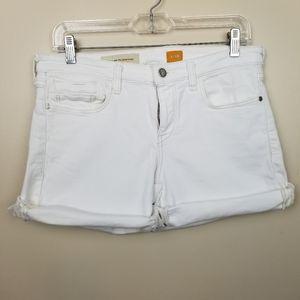   Anthro   Pilcro & the Letterpress white shorts